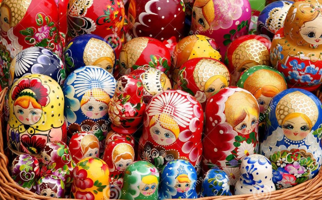 russian-doll-matryoshka-family-unique-wooden-dolls-different-color-shades-wicker-basket-like-one-big-32518844